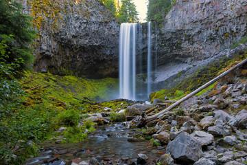 Tamanawas Falls along Cold Spring Creek in Oregon Closeup