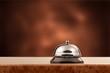 Vintage hotel reception service desk bell