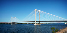 Cable Suspension Bridge Over C...
