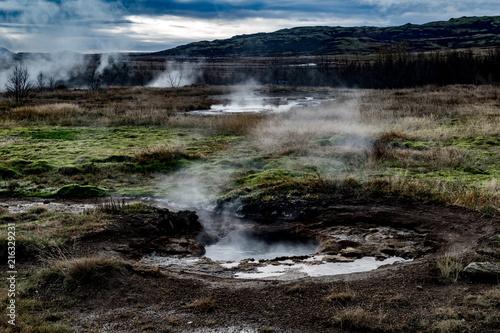 Printed kitchen splashbacks River Iceland: Natural vent