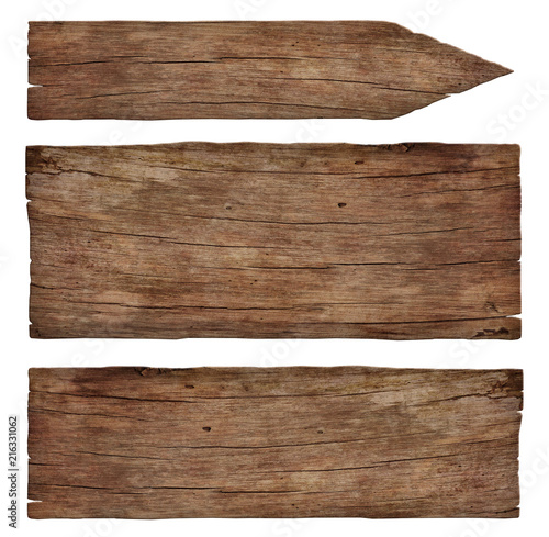 empty old weathered wooden signs Wall mural