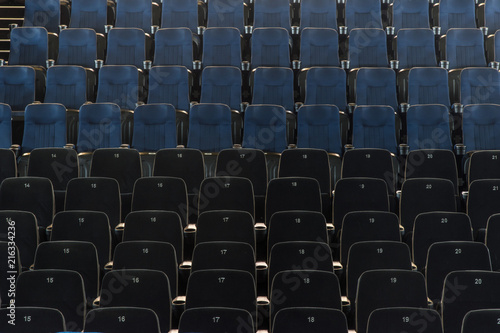 Fotobehang Theater Seat rows in the cinema