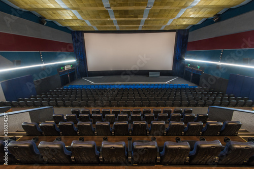 Foto op Plexiglas Theater Hall in the cinema with rows of seats
