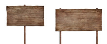 Old Weathered Wood Sign Isolat...