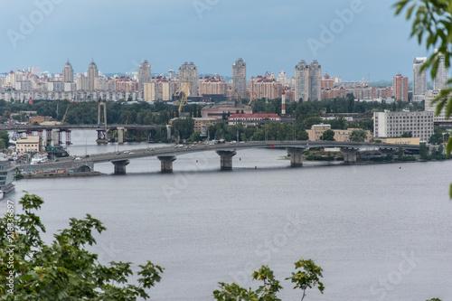 Foto op Plexiglas Kiev Panoramic view of Kyiv and Dnipro river