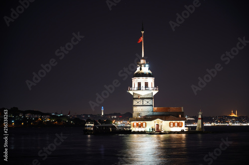 Kiz Kulesi or Maiden's Tower in Istanbul - TURKEY. Old historical tower. © Hayati Kayhan