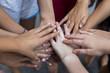 Tween Girls Hands Stacked Together