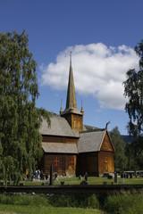 Fototapeta na wymiar Historic Norwegian 1158 Church