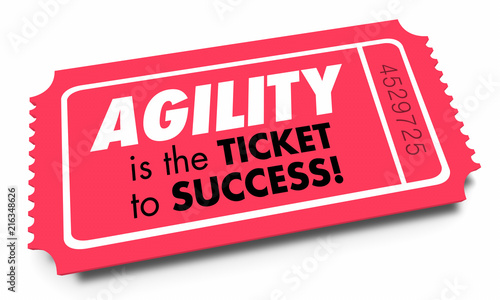 Agility Ticket to Success Quick Fast Responsive 3d Illustration Canvas Print