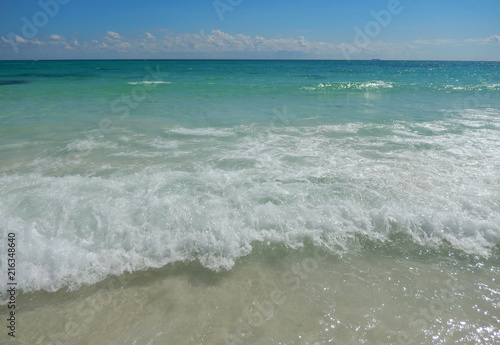 Fotografie, Obraz  Caribbean sea waters at the Atlantic in Cancun, Mexico