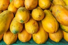 Pile Of Freshly Harvested Papaya