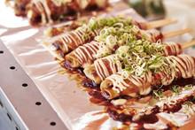 Japanese Skewered Okonomiyaki