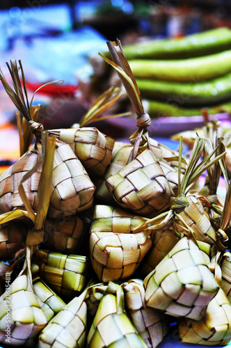 Fotografía  Ketupat, rice wrapped in woven leaf, a traditional Malay delicacy during Hari Ra