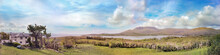 Panoramic Landscape With A Hou...