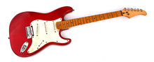 Red Electric Guitar With White...