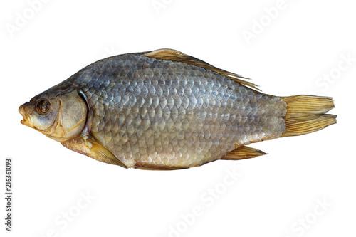 Fotografia, Obraz  Delicious dried fish, isolated on white background