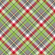 Red Green Check Fabric Texture...