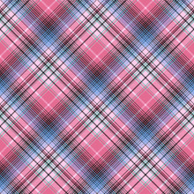 Blue Pink Abctract Check Plaid...