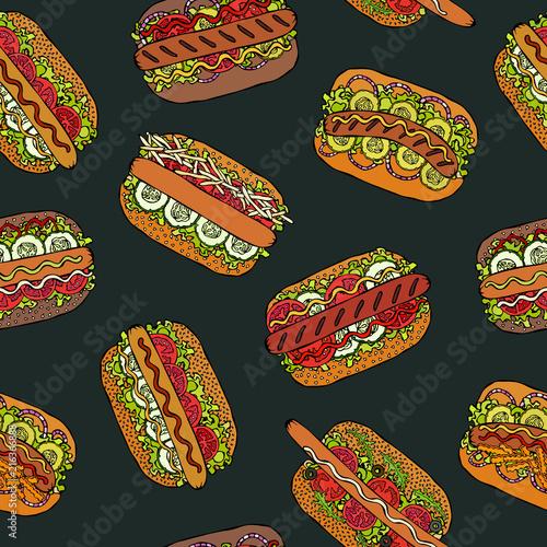 tablica-szkolna-hot-dog-i-napis-seamless-seamless-pattern-wiele-tlo-menu-restauracji