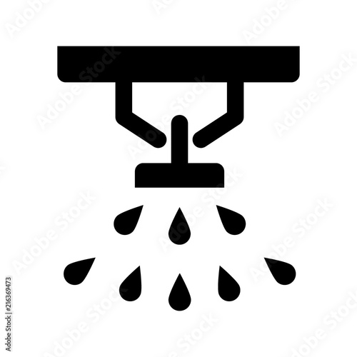 Obraz Sprinkler, fire extinguisher solid icon. vector illustration isolated on white. glyph style design, designed for web and app. Eps 10 - fototapety do salonu