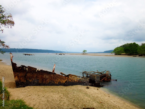 Foto op Canvas Schipbreuk Scene of Luganville, Espiritu Santo, Vanuatu