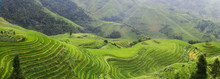 Rice Filed Terrace In The Countryside Of Dazhai ,Shanxi Province ,China