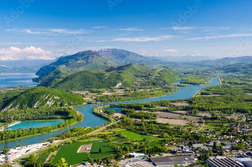 Foto auf Gartenposter Gebirge Panoramic view of rural France