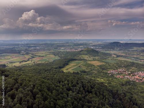 In de dag Lavendel Albvorland - Luftaufnahme