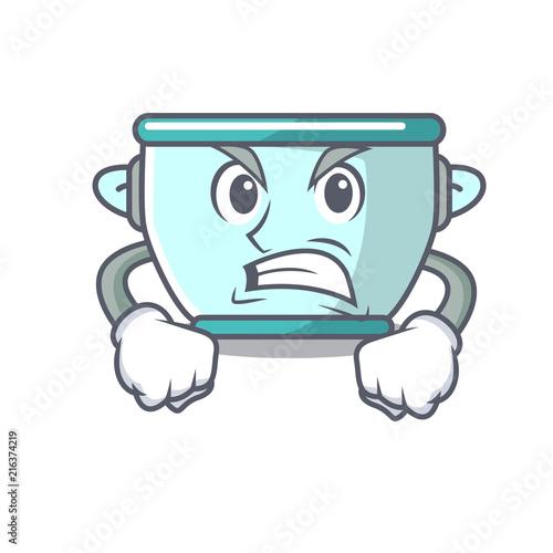 Angry steel pot mascot cartoon Wallpaper Mural