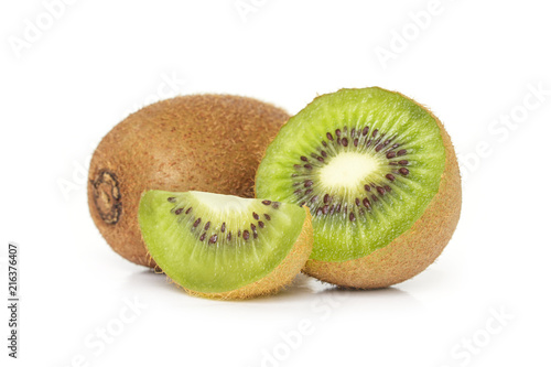 kiwi fruit sliced vegetarian organic healthy nature on white background