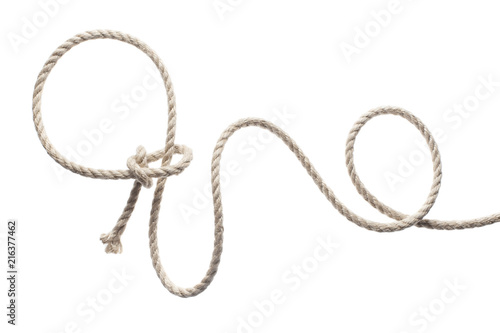 Fotografía Lasso rope, isolated on white background