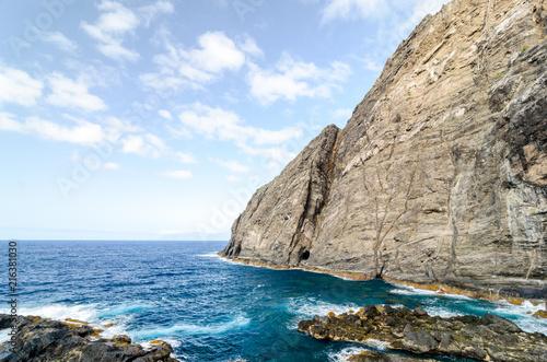 Deurstickers Canarische Eilanden A cliff in La Gomera island, Canary Islands