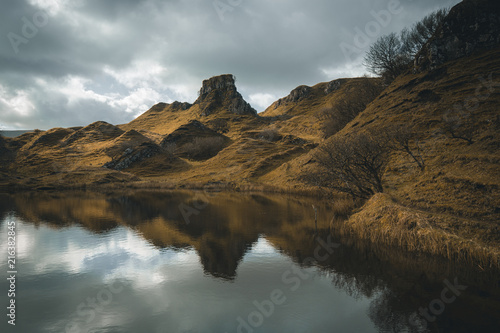 Scotland fairy glen landscape Canvas Print