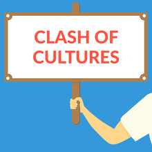 CLASH OF CULTURES. Hand Holdin...