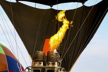 Hot Air Balloon Being Inflated...