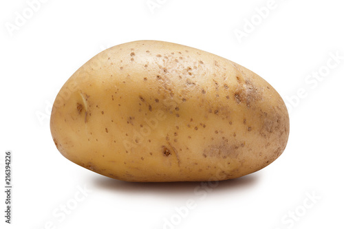 Canvas Print Young potatoes isolated on white background