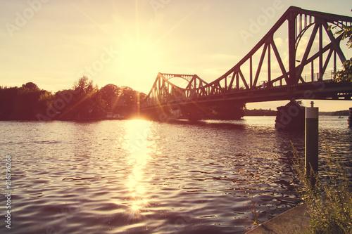 Poster Bordeaux Bridge Glienicke in Berlin Germany