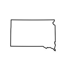 Map Of South Dakota. Vector Il...