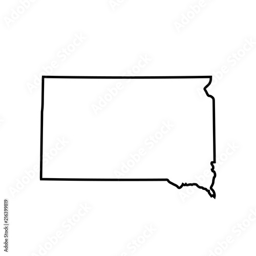 map of South Dakota. vector illustration Wall mural
