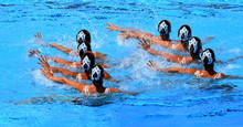 Synchronized Swimming Team Per...