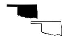Map Of Oklahoma. Vector Illust...