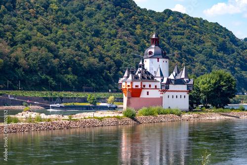 Stampa su Tela Burg Pfalzgrafenstein im Rhein