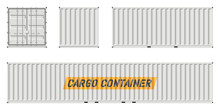 Cargo Container Vector Mockup ...