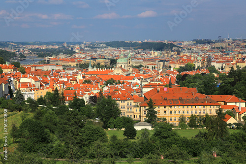 Photo  Panoramic view of Lesser Town (Mala Strana) in Prague, Czech Republic