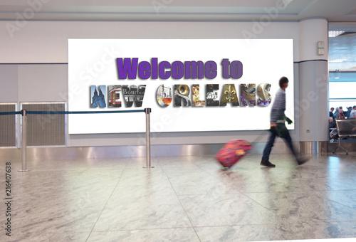 Keuken foto achterwand Verenigde Staten New Orleans airport traveler