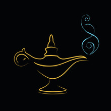 Golden Magic Miracle Lamp Wishes