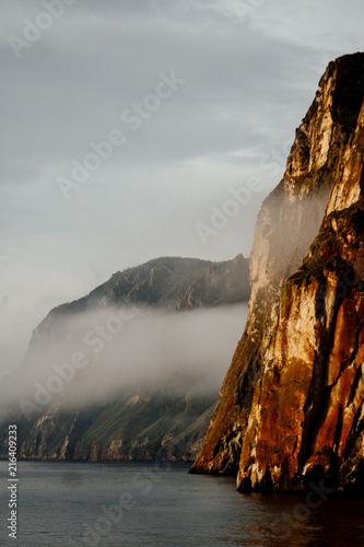 Poster Donkergrijs Baikal Landscape