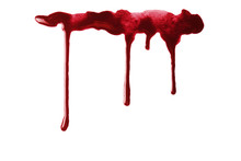 Drops Of Blood, Isolated On Wh...