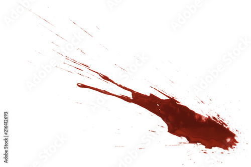 Stampa su Tela Drops of blood, isolated on white background