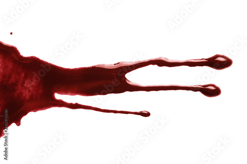 Drops of blood, isolated on white background Fototapeta
